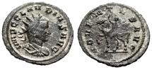 "Ancient Coins - Claudius II Gothicus Silvered Antoninianus ""ADVENTVS AVG Horseback"" Scarce"