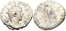 "Ancient Coins - Gallienus Silver AR Ant. ""PM TR P VII COS IIII PP Mars"" RIC 152 Rome SCARCE"