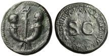 """Ancient Coins - Tiberius Gemellus & Germanicus AE Sestertius """"Busts on Cornucopiae"""" RIC 42 VF"""