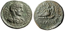 """Ancient Coins - Gallienus AE38 Medallion """"River Hippophoras"""" Pisidia Apollonia Mordiaeum Rare"""
