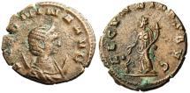"""Ancient Coins - Salonina AE Antoninianus """"Fecunditas & Child"""" Rome RIC 5 gVF"""