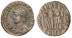 """Ancient Coins - Constans I Caesar """"GLORIA EXERCITVS Soldiers"""" Nicomedia RIC 202 Rare"""