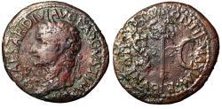 """Ancient Coins - Tiberius AE As """"Portrait & Caduceus, SC"""" Rome 36-37 AD"""