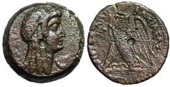 "Ancient Coins - Ptolemaic Kingdom of Egypt: Ptolemy V Epiphanes ""Isis & Eagle"" AE27 Good VF"
