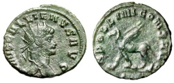 "Ancient Coins - Gallienus AE Antoninianus ""APOLLINI CONS AVG Griffin"" Rome RIC 165 VF"
