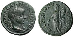 """Ancient Coins - Gordian III AE26 of Hadrianopolis Thrace """"Nemesis With Cubit Rule"""" Good VF"""