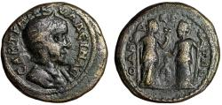 "Ancient Coins - Tranquillina AE23 of Odessos, Thrace ""Demeter & Kore, Torches"" Scarce nVF"