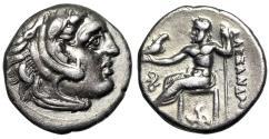 "Ancient Coins - Alexander III The Great AR Drachm Struck Under Philip III ""Buckle & Artemis"" gVF"