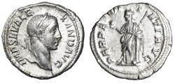 "Ancient Coins - Severus Alexander AR Denarius ""Perpetuitas by Column"" Scarce Good VF"