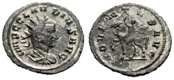 "Ancient Coins - Claudius II Gothicus Silvered Antoninianus ""ADVENTVS AVG Horseback"" Scarce"