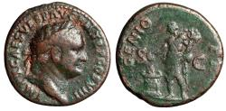 "Ancient Coins - Titus AE As ""GENIO PR Genius by Altar"" Rome 80-81 AD RIC 227 Very Rare gF"