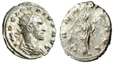 """Ancient Coins - Claudius II Gothicus Silvered Ant. """"Annona By Modius"""" RIC 19 Interesting Style"""