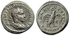 "Ancient Coins - Philip I Billon Tetradrachm ""Eagle Standing, MON VRB"" Syria Antioch gVF"