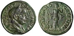 """Ancient Coins - Gordian III AE27 of Hadrianopolis, Thrace """"Artemis With Bow, Stag"""" Good VF Rare"""