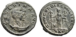 "Ancient Coins - Severina (Wife of Aurelian) Antoninianus ""Concordia Standards"" Antioch RIC 20 VF"