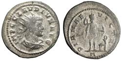 """Ancient Coins - Claudius II Gothicus Silvered Antoninianus """"Diana Hunting, Stag"""" Antioch Rare"""