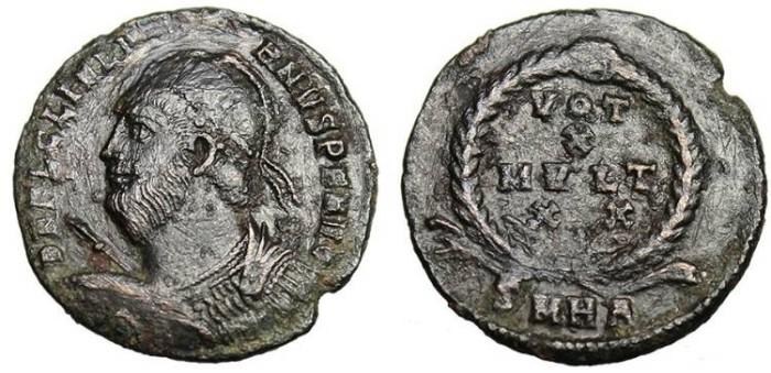 "Ancient Coins - Julian II, AE3 ""VOT X MVLT XX"" Unpublished Mintmark Heraclea SMHA RARE"
