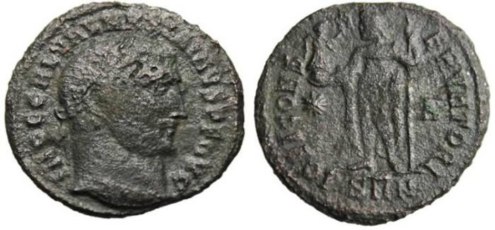 "Ancient Coins - Maximinus II AE Follis ""Jupiter"" Nicomedia RIC 69b"
