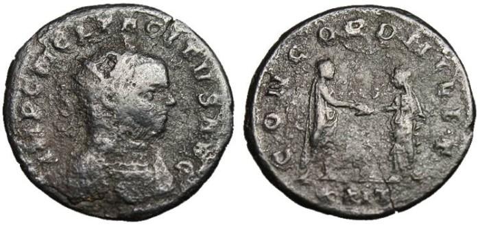 """Ancient Coins - Tacitus, AE Ant. """"CONCORD MILIT"""" Siscia RIC 130"""