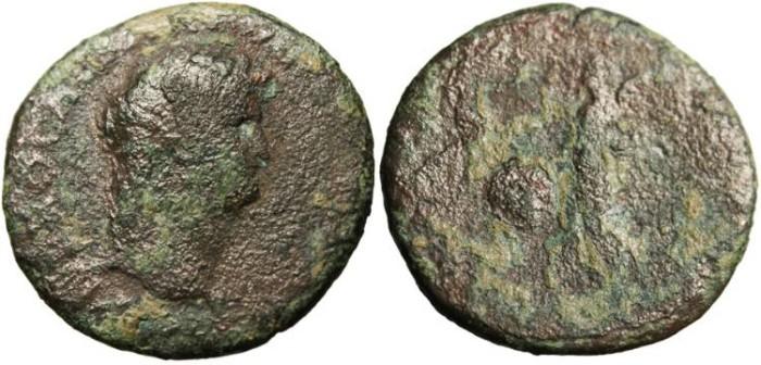 "Ancient Coins - Nero, Ae As ""Victory SPQR Shield"" Rome RIC312"