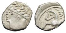 "Ancient Coins - Celtic: Southern Gaul, The Allobroges AR Drachm ""Laureate Head & Horse, Scepter"""