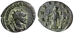 """Ancient Coins - Quintillus AE Antoninianus """"Laetitia, Wreath & Anchor"""" 270 AD RIC 22 VF"""