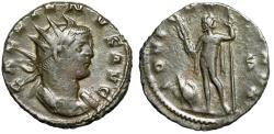 "Ancient Coins - Gallienus Antoninianus ""IOVI CONSERVA Jupiter, Eagle, S"" Milan RIC 486 Scarce"