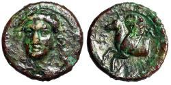 "Ancient Coins - Sicily, Syracuse Hemilitron ""Facing River-god Anapos & Pegasus"" gVF Scarce"