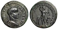 "Ancient Coins - Gordian III AE25 Markianopolis, Moesia ""Apollo, Nude, Bow & Serpent"" VF"