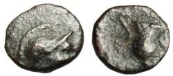 "Ancient Coins - Aeolis, Myrina AE8 ""Athena & Amphora (Urn)"" 3rd-2nd Century BC"