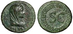 "Ancient Coins - Drusus AE As ""Veiled Pietas Portrait & Large SC"" Time of Tiberius Scarce gVF"