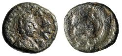 """Ancient Coins - Leo I AE11 """"Portrait & Lion Crouching, Wreath With CON Mintmark"""" RIC 674"""