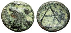 "Ancient Coins - Argolis, Argos AE Chalkous ""Hera in Stephane & Large A, Club"" Very Rare"