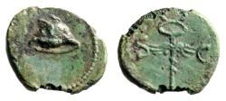 "Ancient Coins - Anonymous Flavian Era Quadrans ""Winged Petasus & Winged Caduceus"" RIC 32 gVF"