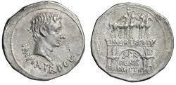 "Ancient Coins - Augustus AR Cistophoric Tetradrachm ""Triumphal Arch"" Mysia Pergamon Good VF"
