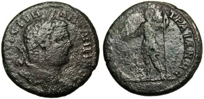"""Ancient Coins - Caracalla AE 29 """"Emperor in Military Dress"""" Thrace, Augusta Triana"""