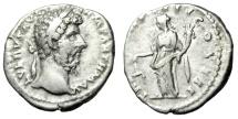 """Ancient Coins - Lucius Verus Silver Denarius """"Aequitas, Scales"""" Rome 166-167 AD RIC 576 VF"""