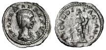 "Ancient Coins - Julia Maesa (Grandmother of Elagbalus) AR Denarius ""Fecunditas, Child at Feet"""