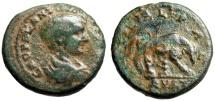 "Ancient Coins - Diadumenian AE24 ""She-Wolf Suckling Romulus & Remus"" Thrace Deultum Rare"