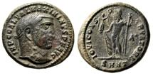 "Ancient Coins - Maximinus II Daia AE Follis ""IOVI CONSERVATORI Jupiter"" Heraclea RIC Unlisted"