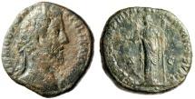 "Ancient Coins - Commodus AE Sestertius ""FEL PVBLICA Fortuna"" Roem 186AD RIC 467 Scarce"