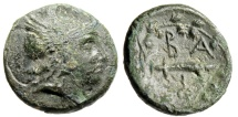 """Ancient Coins - King of Macedonia: Philip V AE16 """"Perseus & Harpa in Wreath"""" Scarce"""