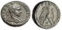"""Elagabalus AR Tetradrachm """"Eagle With Wreath Beak"""" Syria Antioch Good VF"""