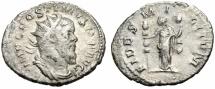 "Ancient Coins - Postumus AR Silver Antoninianus ""FIDES MILITVM Fides, Fidelity"" RIC 59 VF"