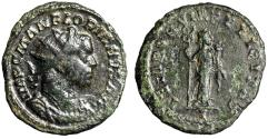 "Ancient Coins - Florian AE Antoninianus ""TEMPORVM FELICITAS Felicitas, Caduceus"" 276 AD RIC 12"