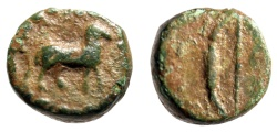 "Ancient Coins - Islands off Ellis, Kephallenia, Kranion (Cranii) AE12 ""Ram & Bow"" Very Rare VF"