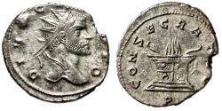"""Ancient Coins - Divus Claudius II Gothicus Silvered Antoninianus """"Flaming Altar"""" Milan RIC 261"""