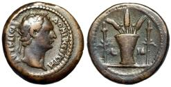 """Ancient Coins - Domitian AE19 """"Modius With Poppy & Grain, Two Torches"""" Egypt Alexandria Rare"""