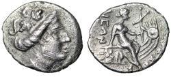 """Ancient Coins - Euboia, Histiaia AR Tetrobol """"Nymph on Galley, Star on Prow"""" VF"""
