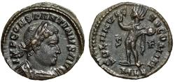"Ancient Coins - Constantine I The Great Follis ""SOLI INVICTO COMITI Sol, MLL"" London RIC 27 EF"